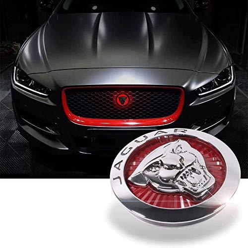 85MM Front Grille Grill - Jaguar Logo Emblem with LED Illuminated for Jaguar XFL XEL XE F-PACE
