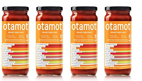 Otamot Organic Vodka Sauce (4 Pack) 10 Organic Veggies, No Sugar Added, Non-GMO, Vegan, Whole30 Approved, Dairy-Free