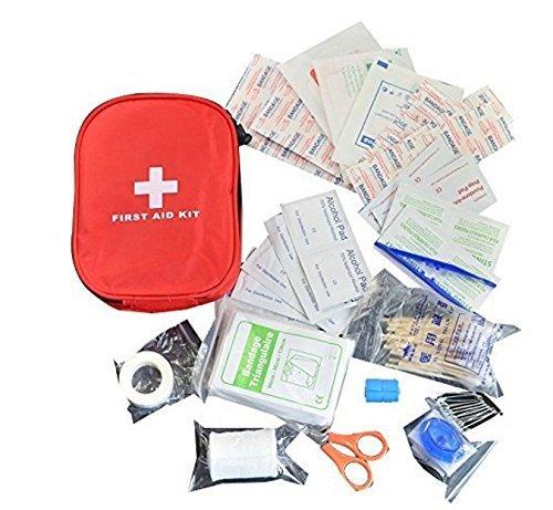 防災 医療 救急セット ファーストエイドキット 緊急応急セット 救急箱 応急処置13種類31点セット アウトドア 旅行 地震 非常時用 家庭 職場 アウトドア等用 赤バッグ