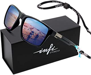 Fishing Polarized Sunglasses for Men Driving Running Golf Sports Glasses Square UV Protection...
