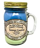 Our Own Candle Company Summer Vacation Scented 13 Ounce Mason Jar Candle