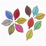 Hierro en parches bordado cosido Termoadhesivos para ropa, chaquetas, mochilas, jeans,12pcs full set of colorful leaves
