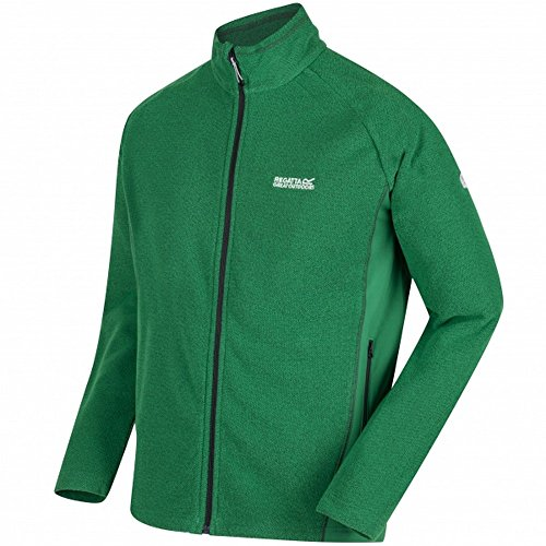Regatta Tafton Full-Zip Honeycomb Extol Stretch Fleece Polaire Homme, Vert (Highlnd/High), XXL