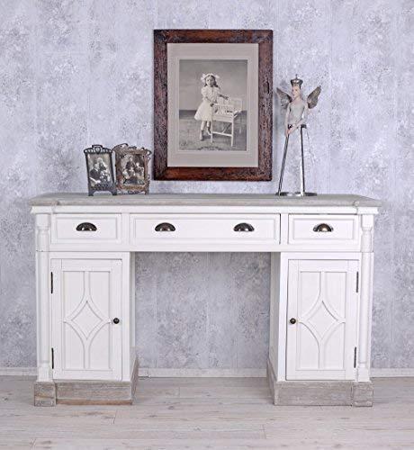 Schreibtisch im Landhausstil Weiss Büro Tisch Computertisch hmb187 Palazzo Exklusiv