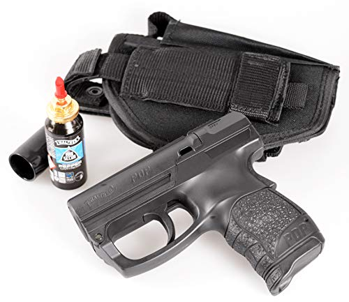 Security-Discount Germany - Personal Defense Pistole Walther PDP/PGS im Set mit Pfefferkartusche und HQ-Gürtelholster