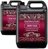 Dirtbusters Car Candy Snow Foam Auto-Shampoo, Reiniger mit Hochglanzwachs, Kirschduft, für professionelle Reinigung und Fahrzeugaufbereitung, 5 l
