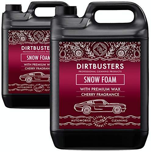 Dirtbusters Snow Foam Shampoo - professioneller Autopflegereiniger - sicher, ungiftig, mit Hochglanzwachs und Süßkirschduft - für die professionelle Autowäsche - 5 Liter (2)