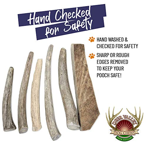 Deer Valley Chews Premium Deer Antler for Dogs - Small 5-7 Inches Long, 6 Pack -The Safer Antler Chew - All Natural Dental Treat for Teething and Chewing - Premium Grade, Naturally Shed