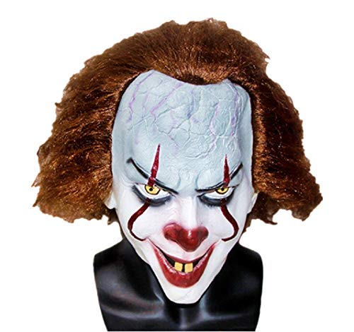 Masker - - volwassenen - luxe - accessoires - kostuum - carnaval - halloween - film - it - - cadeau-idee pennywise clown joker cosplay