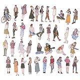 BLOUR 100 Stück/Packung kleine frische schöne Mädchen Mode Mädchen Hand Konto Aufkleber Selbst...