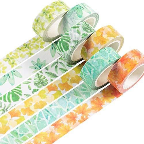 YUBBAEX Washi Tape Set cinta adhesiva decorativa Washi Glitter Adhesivo de Cinta...
