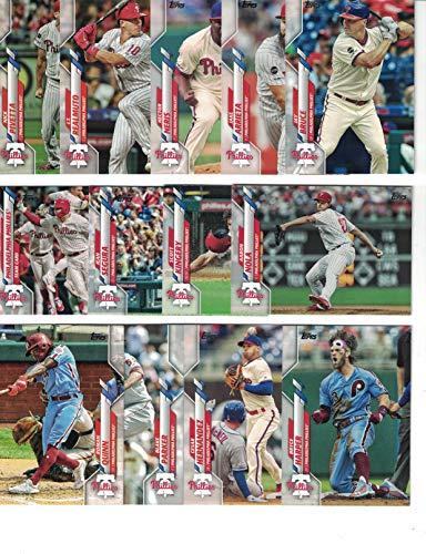 Philadelphia Phillies/Complete 2020 Topps Phillies Baseball Team Set! (22 Cards) Series 1 and 2