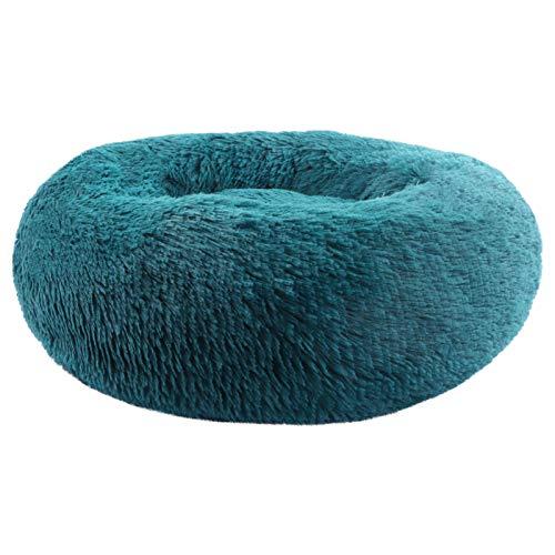 BVAGSS Cama de Gato Extra Suave Cómodo Lindo Lavable de la Cama Sleeping Sofa para Mascotas Deluxe para Gatos y Perros XH062 (Diameter:50, Cyan)