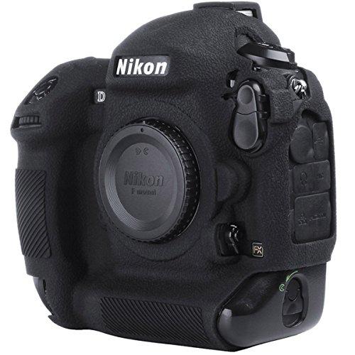 STSEETOP Nikon D4/D4S Case, Professional Silicion Rubber Camera Case Cover Detachable Protective for Nikon D4 D4S (Black)