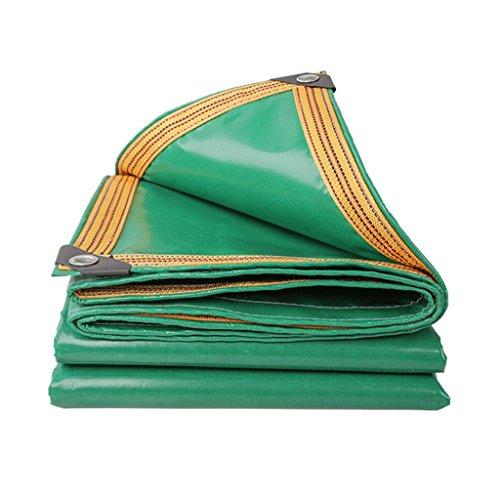 Lona de lona gruesa de color verde para rascar el hogar, impermeable, para exteriores, con aislamiento especial, 350 g/m², 100% resistente al agua y protección UV, verde