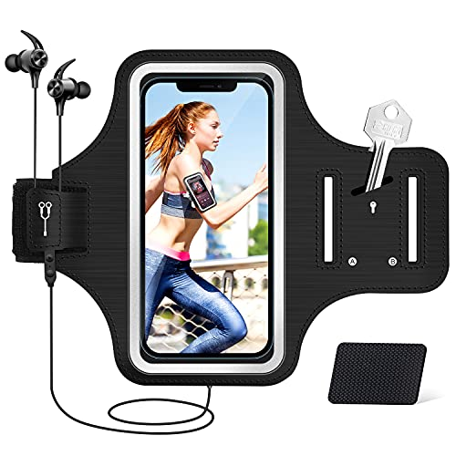 YNMEacc Armtasche Kompatibel mit iPhone 12/11/12 Pro Max/XR/XS Huawei P30/P30 Lite/P30 Pro Samsung Galaxy S21 S21+, Xiaomi, Sportarmband Armband Handytasche für Joggen Running Fitness (4.7