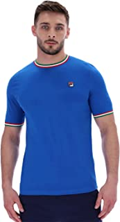 Fila Vintage Mens Flank 80s Tipped Ringer T-Shirt