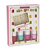Charming Charlie Shimmering Nail Art Kit - Assorted Polish, 40 Easy Apply Nail Stickers - Set of 4, Gummy Bear