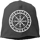 LinUpdate-Store Casco Vikingo o protección contra Las runas Sombrero de Cobertura nórdico Sombrero de Calavera Sombrero de Punto Gorro para el otoño/Invierno