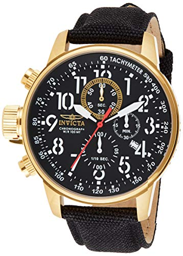 Invicta Men's I-Force 1515 Black Leather Swiss Chronograph Dress Watch