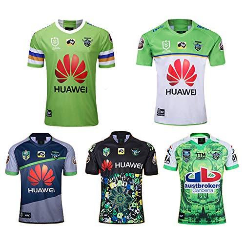JUNBABY 2019 Auckland Raiders Rugby Trikot, 2018 Raider Herren Rugby T-Shirt, Fußball Polo Hemd-Olive-XL