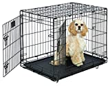 MidWest Life Stages Double-Door Folding Metal Dog Crate, 30 Inches by 21 Inches by 24 Inches