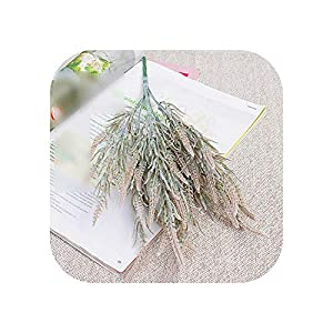 Artificial Flowers Fake Flower| 7 Branches Foxtail Lagurus Artificial Flowers Lavender Autumn Home Hotel Decoration Wedding Bridal Bouquet Fake Flowers-Coffee-