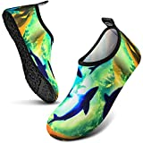 EOMTAM Swim Shoes for Womens and Mens,Water Sports Shoes Barefoot Quick-Dry Aqua Yoga Socks Slip-on for Outdoor Beach Swim Sports Yoga Snorkeling (Baby Shark, Numeric_8_Point_5)