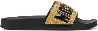 Moschino Luxury Fashion Womens MA28052G17MI0901 Gold Sandals | Season Permanent