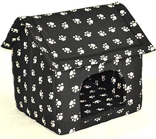 nanook Hundehöhle Katzenhöhle XL Chalet Dog Cat Kennel Kratzfest formstabil schwarz 60 cm