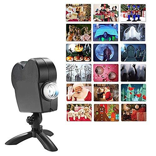 XTD Weihnachten Halloween Fenster Holographischen Projektor Light- 12 Film Festival Projektionslampe Im Freien Garten-Dekoration -Biegen Ihre Fenster In A Festive Movie-Bildschirm A