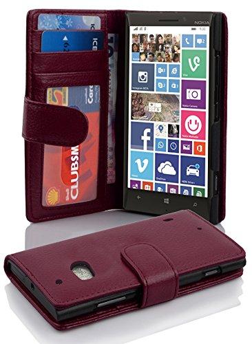 Cadorabo Hülle für Nokia Lumia 929/930 in Bordeaux LILA – Handyhülle mit Magnetverschluss & 3 Kartenfächern – Hülle Cover Schutzhülle Etui Tasche Book Klapp Style