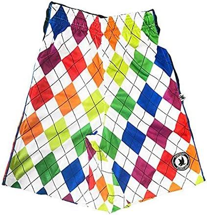 Flow Society New Neon Argyle Boys Athletic Shorts
