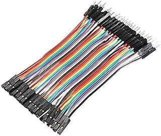 Foxnovo Breadboard Jumper Wires 1 pin 10CM Male to Female Jumper Cable 40 Pcs