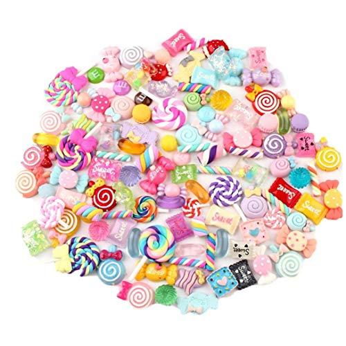 30pcs / Bag Slime Charme Nette Set Mischte Sortierte Süßigkeiten Harz Flatback Slime Perlen, Die Versorgungsmaterialien Für Diy Fertigkeit-herstellung Und Ornamalet Scrapbooking