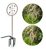 Wasserspiel Garten, Rasensprenger Spiral-Design, mit Erdspieß, 2 in 1, Sprinkler & Gartendeko, Kupfer-grün