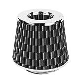 Filtros Juego de filtro de aire de seta de hierro de alta Multi flujo de aire Diámetro de coche universal 63mm (Color : Carbon grain)
