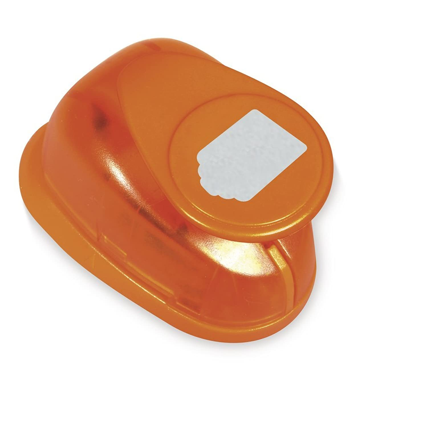 RAYHER Decorative Hole Punch Tag/Label 2,3x1,5?cm, 1?Inch, Ideal for Paper/Card Up to 200?g/m2, Plastic, Orange, 2,3x1,5cm- 1 Zoll