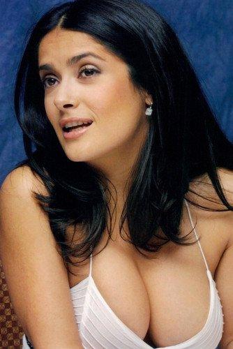 Salma Hayek Tetona Muy Sexy Vestido Revelador 60 x 90 cm Póster