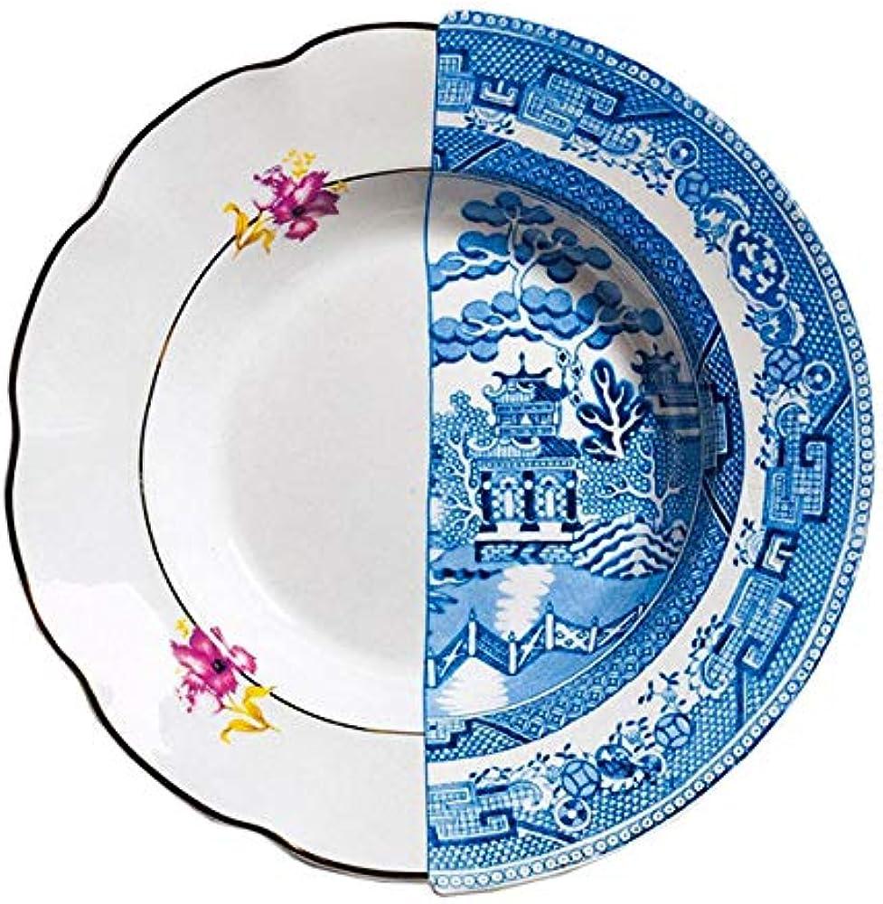 Seletti, piatto fondo, in porcellana Ø cm.25,4 h.4,2