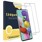[2 Pack] UniqueMe Compatible con Samsung Galaxy A51 / A51 5G Protector de Pantalla, Vidrio Templado [9H Dureza] HD Film Cristal Templado