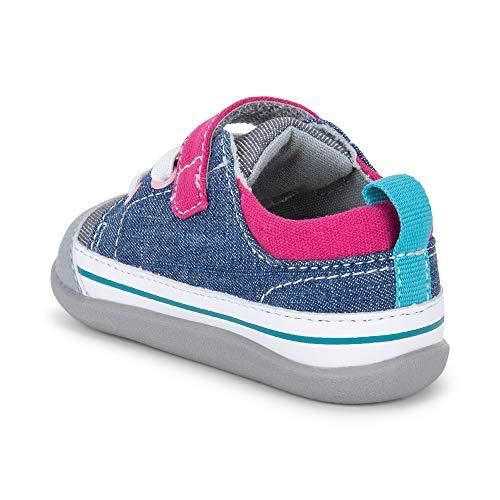 See Kai Run, Stevie II First Walker Sneakers for Infants, Blue/Gray, 4 M Infant