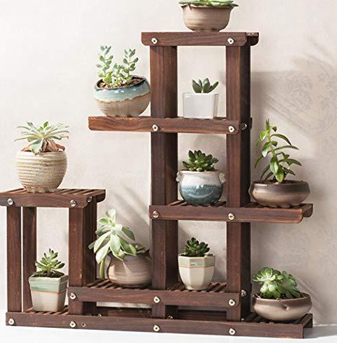 Y-H-X Houten Bloem StandsFlower plank Multi-verdiepingen indoor houten bloem stand Desktop vlezige vensterbank kleine bloem standaard Massief hout woonkamer balkon erker raam plant standaard, 3 grootte