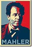 TPCK Gustav Mahler Kunstdruck (Obama Hope Parodie)