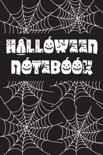 """Halloween Notebook: Halloween Cobweb Journal 9"""" x 12"""" 120 Pages 