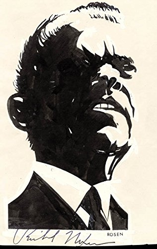 President Richard M. Nixon - Caricature Signed