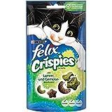 Felix Crispies - Snack per Gatti, Confezione da 8 (8 x 45 g)