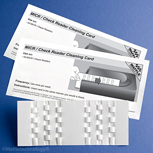 Great Features Of Kic Team-Waffletechnology MICR / Check Reader Cleaning Card, 15/Box