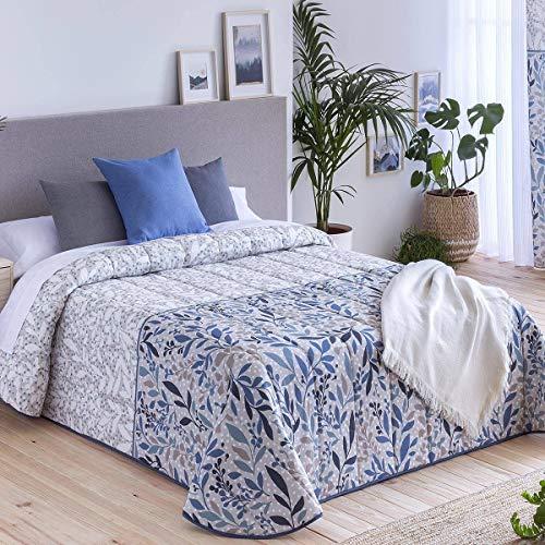 Confecciones Paula - Colcha bouti Roses - Cama 90 Cm - Color Azul