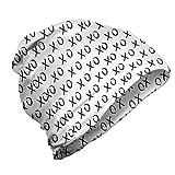 ABAKUHAUS XO Gorro Unisex, Besos de expresión de afecto, Tela Suave 100% Microfibra Estampada Ideal ...